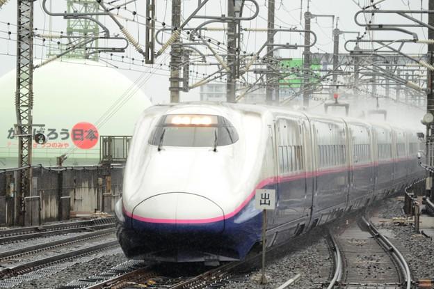 Photos: E2系J73編成はやて114号 雨の宇都宮通過