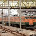 115系T1043+T1038編成回送新前橋1番入線