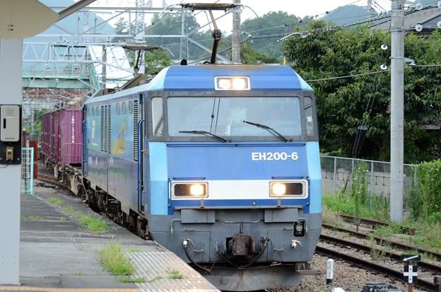 EH200-6号機牽引82レ大月通過