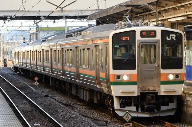 211系A34編成高崎6番入線