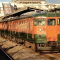 写真: 115系高タカT1037+T1038編成回送新前橋発車