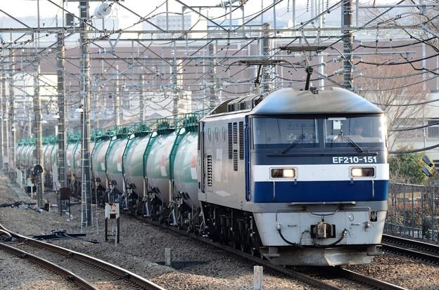 EF210-151牽引8571レ府中本町通過