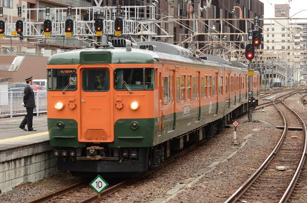 高タカ115系定期最終536M終点高崎6番到着