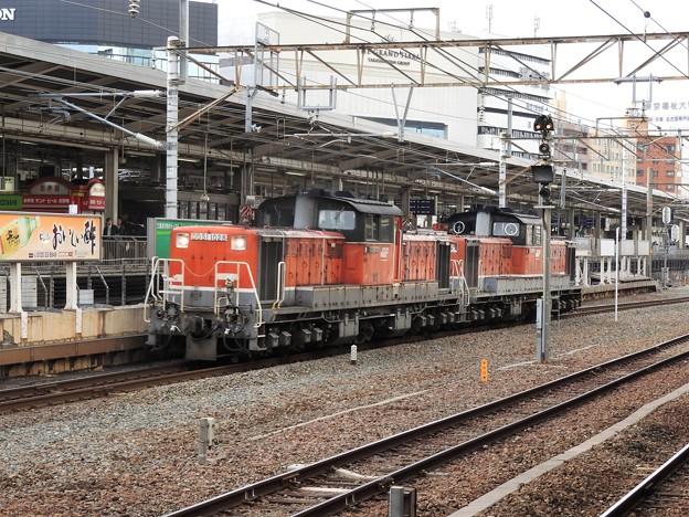 名古屋駅を通過するDD51重連代走