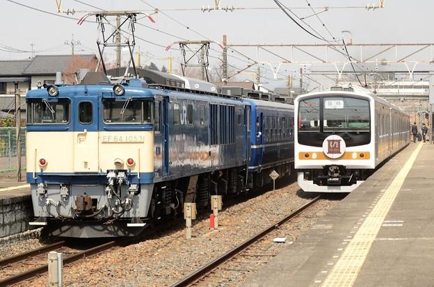 栃木DC臨時列車の交換