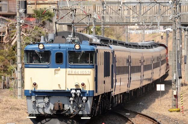 EF64 1053牽引「本物の出会い栃木号」返却回送