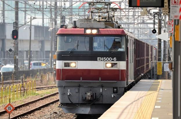 EH500-6号機牽引3087レ雀宮1番通過