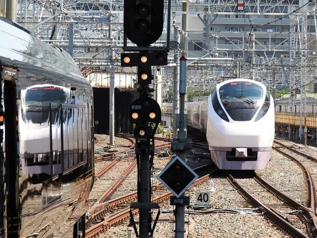 E657系ときわ55号上野発車