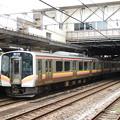 写真: E129系新潟行き長岡発車