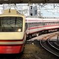 写真: 東武200系りょうもう号送込み回送浅草入線