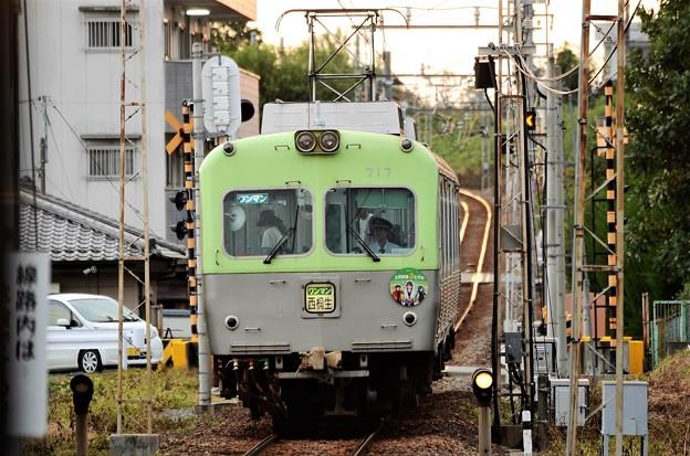 上毛電鉄700形西桐生行き赤城1番入線