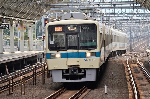 小田急8000形快速急行新宿行き
