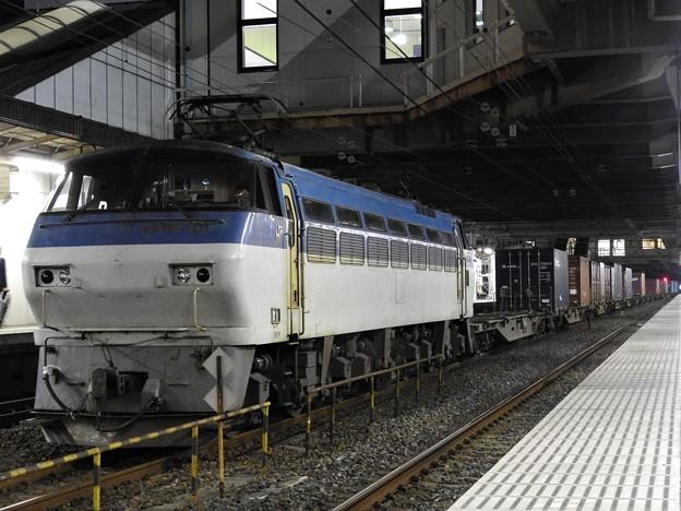 EF66-101号機代走牽引4073レ小山11番待避
