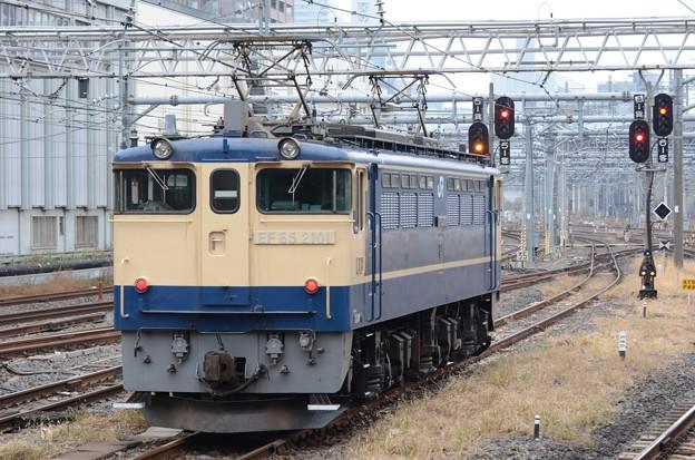 EF65 2101単機配8592レ大宮5番発車