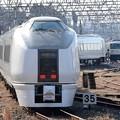 Photos: 成田電留線に向かう651系K103編成