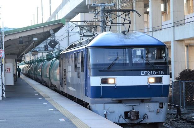 岡山の桃太郎15号機代走石油高速貨物4091レ