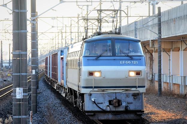 EF66  121号機代走牽引高速貨物4093レ