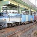 EF66 121号機代走牽引4093レ宇都宮貨物(タ)入線