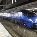 夜の博多駅 青いソニック