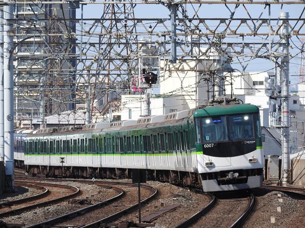 京阪6000系準急出町柳行き
