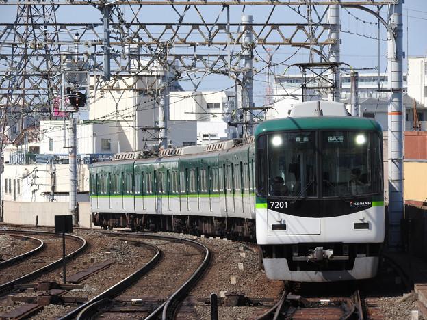 京阪7200系普通出町柳行き