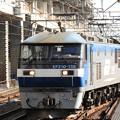 Photos: 小山11番に進入する桃太郎155号機牽引石油返空5582レ