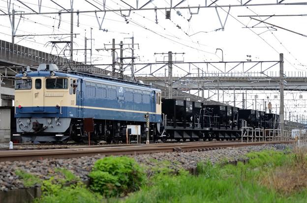 EF65 1105+ホキ4両宇都宮貨物(タ)構内入換え