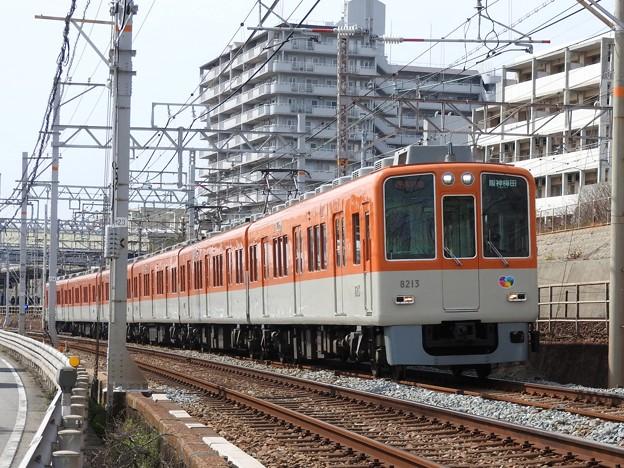 阪神8000系直通特急阪神梅田行き