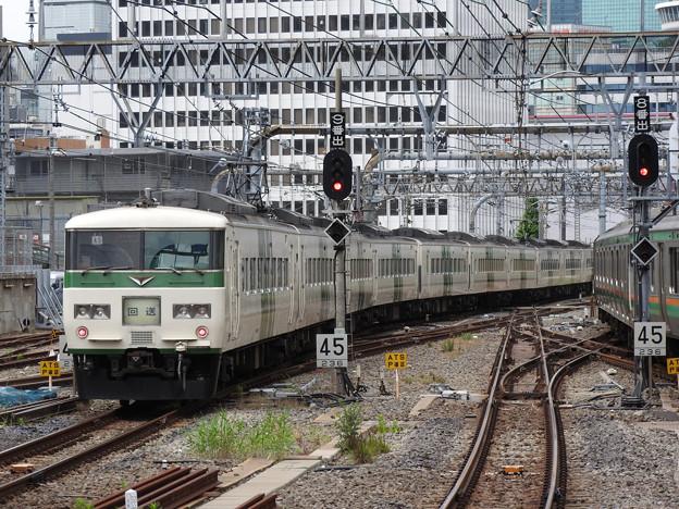 Photos: 185系A3編成回送東京9番発車
