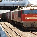 EF510-23号機牽引4061レ秋田入線