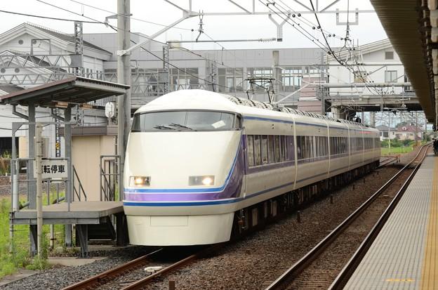 特急スペーシアきぬがわ6号栗橋JR・東武連絡線運転停車