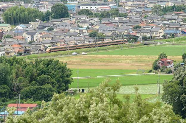 鹿沼富士山公園から特急スペーシアお見送り