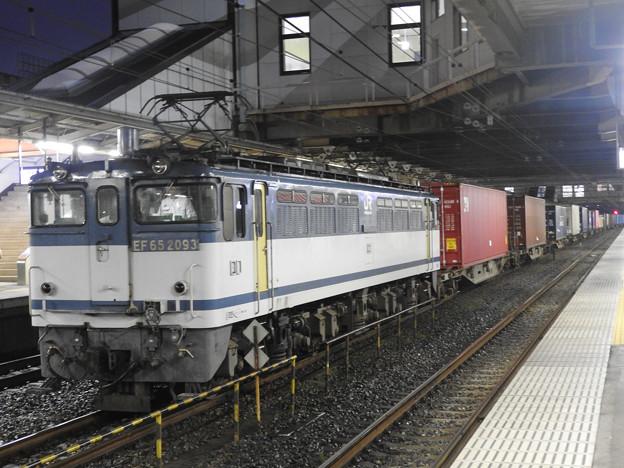 EF65青プレート 2093号機牽引4073レ小山11番待避