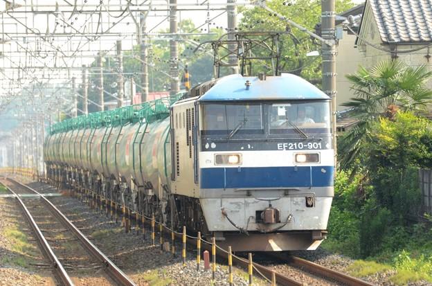 EF210-901号機牽引4091レ