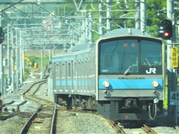JR奈良線205系普通奈良行き交換
