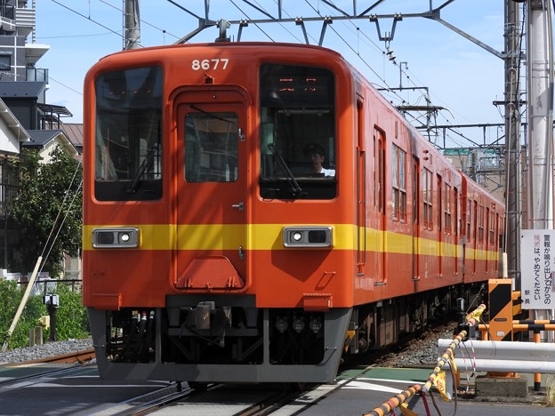 東武8000系復刻色8577F(昭和30年代車両再現塗装)