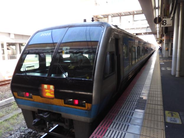 2000系特急南風9号岡山間もなく発車