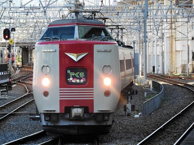 381系特急やくも1号岡山2番入線