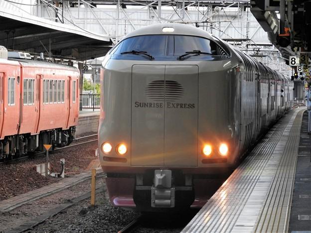 サンライズ出雲号岡山8番発車