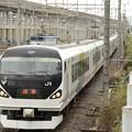 E257系0番台団臨宇都宮貨物(タ)通過