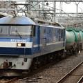Photos: EF210 107号機新塗装白ライン牽引4091レ