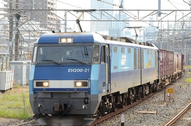 EH200-21号機牽2071レ大宮10番通過