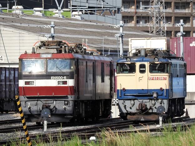 EH500-6号機&EF65 2067号機並び