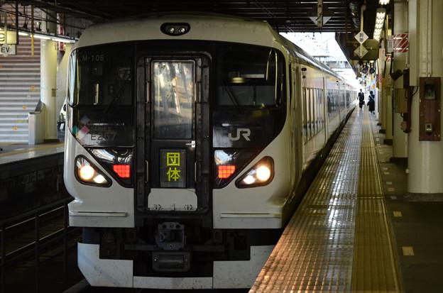 E257系団臨宇都宮8番入線折り返し