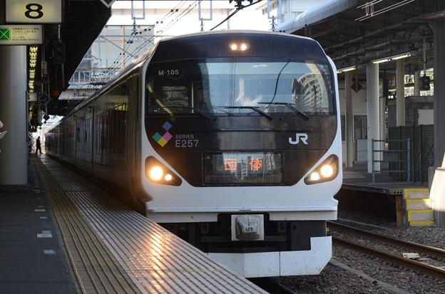 E257系団臨宇都宮8番発車