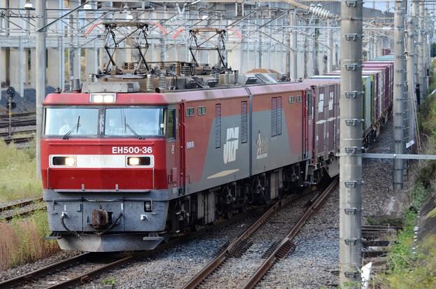 金太郎36号機牽引3050レ宇都宮貨物(タ)入線