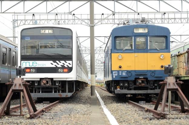 MUE Trainとクモヤ143の並び