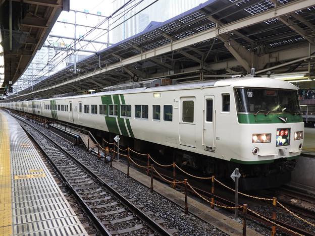 185系A7+C3編成特急踊り子105号東京9番にて