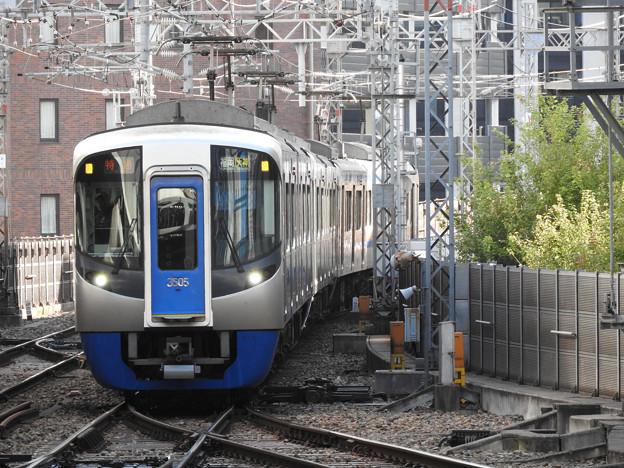 西鉄3000形特急福岡(天神)入線