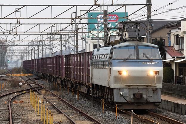 EF66 107号機牽引4093レ間々田通過